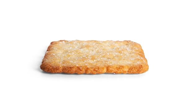 Süßer cracker auf einem weißen hintergrund. foto in hoher qualität