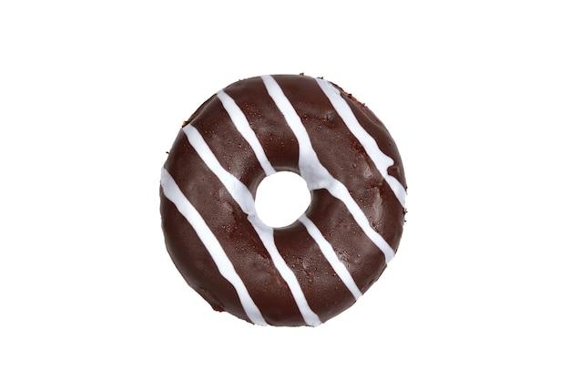 Süßer leckerer donut isoliert auf weiss.