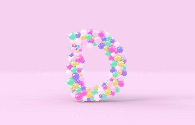 Süßer süßigkeitskugelbuchstabe d
