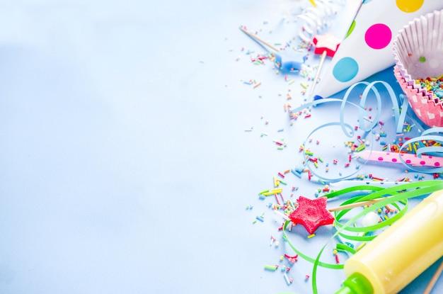 Süßes backen für geburtstagsfeiertagsparty