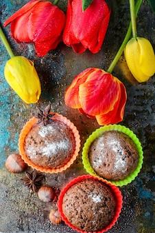 Süßes cupcake dessert