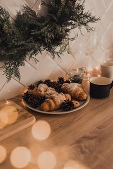 Süßes gebäckdesserts vom catering-konzept des abendessens