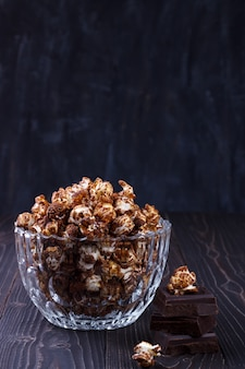 Süßes schokoladen-popcorn