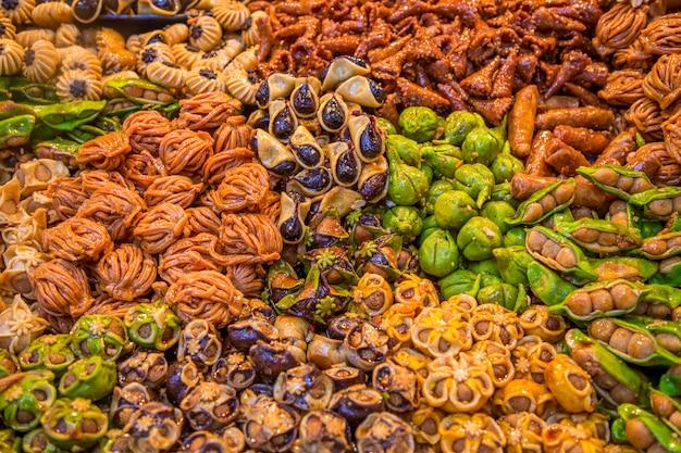Süßigkeiten auf dem marokkanischen markt