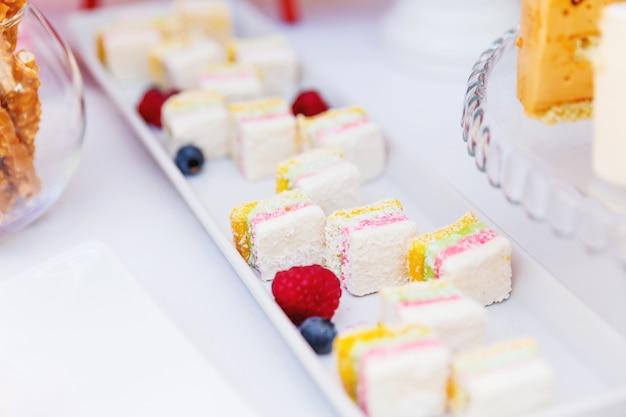 Süßigkeiten auf hochzeitszeremonie