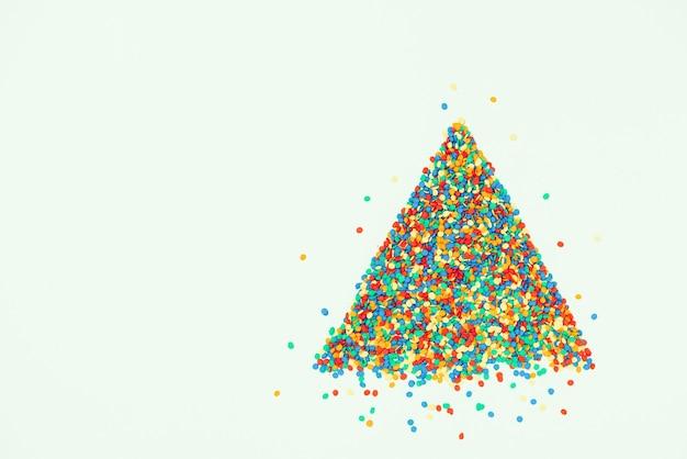 Süßigkeiten weihnachtsbaum, ansicht von oben