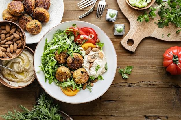 Süßkartoffel-falafel-rezeptidee für veganer