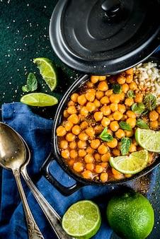 Süßkartoffel- und kichererbsencurry