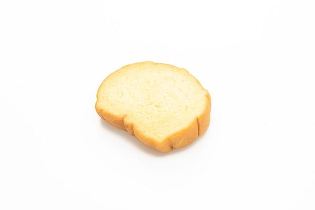 Süßkartoffelbrot in scheiben geschnitten auf weißem hintergrund
