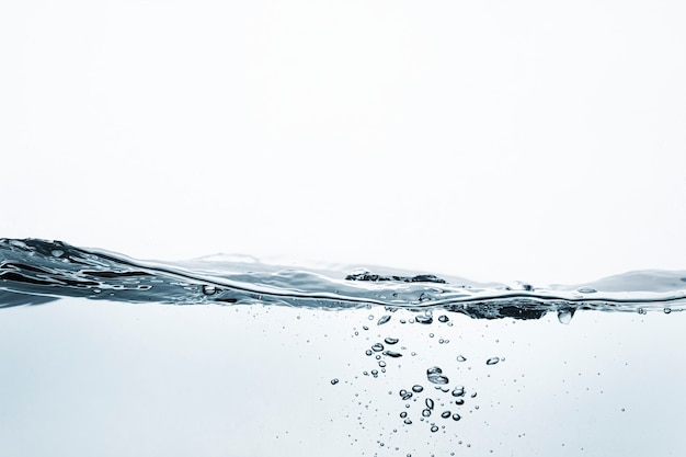 Süßwasserhintergrund, transparente flüssigkeit