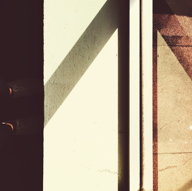 Sun light reflexion im glas