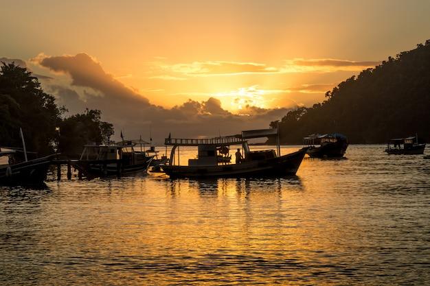 Sunset paraty bay