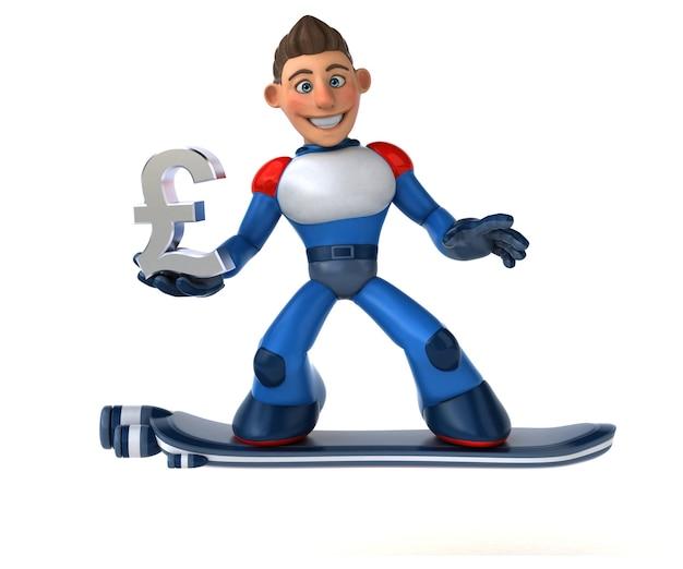 Super moderne superhelden 3d illustration