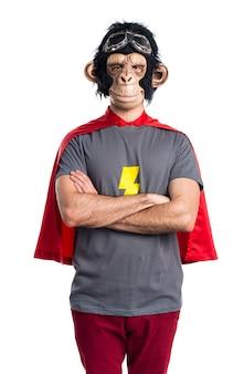 Superheld affe mann