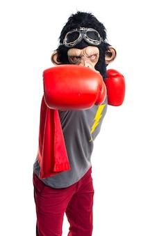 Superheld-affen mann fliegen