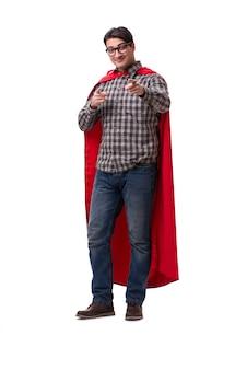 Superheld, der rote abdeckung trägt