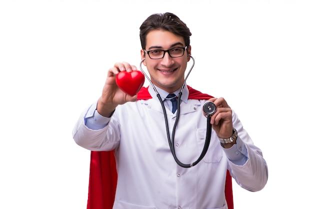 Superheld doktor isoliert