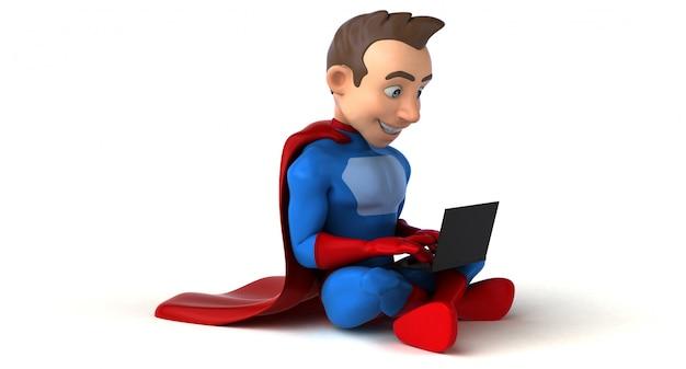 Superhelden-codierung - 3d-charakter
