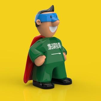 Superhelden-konzept - 3d-illustration