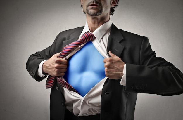Supermacht eines geschäftsmannes