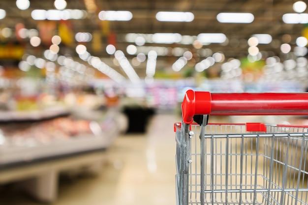 Supermarkt lebensmittelgeschäft mit obst und gemüse regale interieur