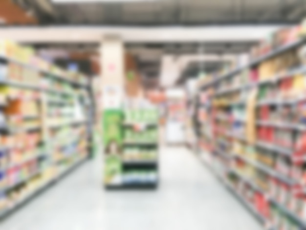 Supermarkt verwischen