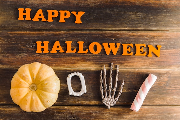 Superscription und halloween zeug