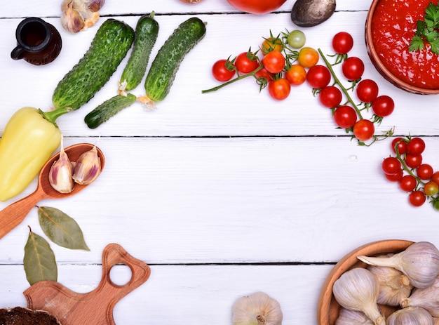 Suppe der frischen roten tomate gazpacho