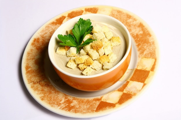 Suppe mit croutons
