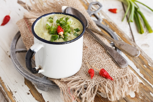 Suppencreme von brokkoli