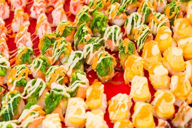 Sushi auf dem markt