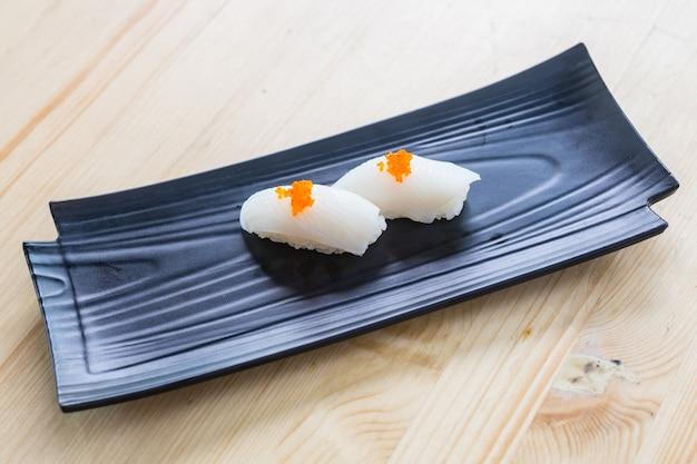 Sushi-menü. japanisches essen.