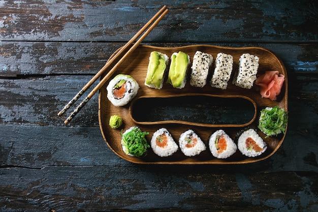 Sushi-rollen eingestellt