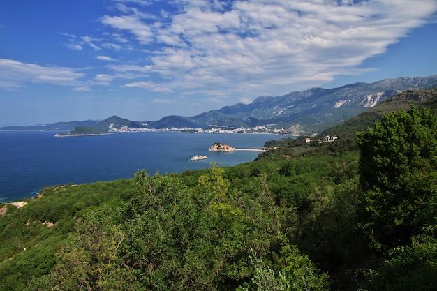 Sveti stefan insel in der adria, montenegro