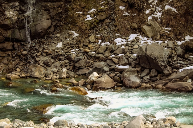 Swat river kalam swat-landschaftslandschaft