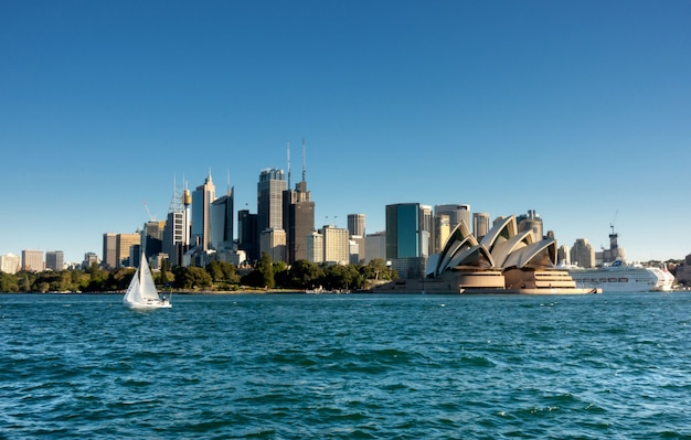 Sydney cbd von der fähre