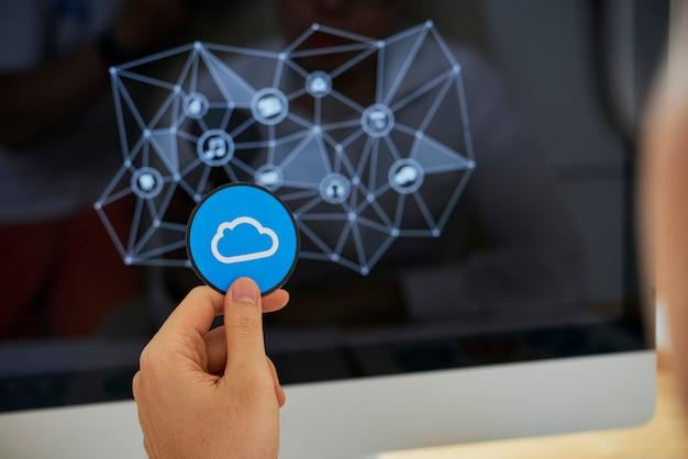 Symbol für cloud-speicher auswählen