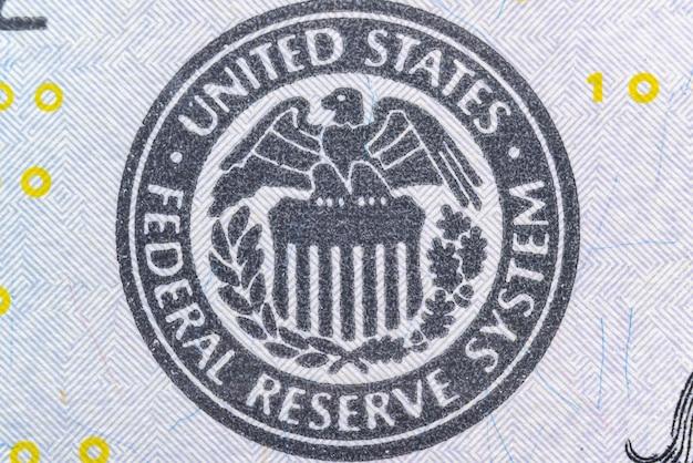 Symbol für das federal reserve system der vereinigten staaten
