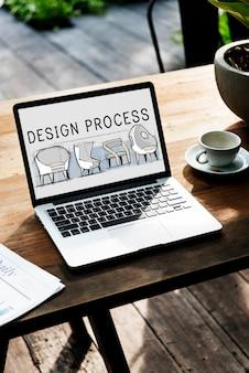 Symbol für den designprozess der ideenerstellung