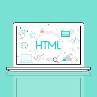 Symbol für html-http-webdesign-startseite