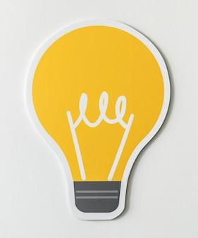 Symbol für kreative glühbirnenideen