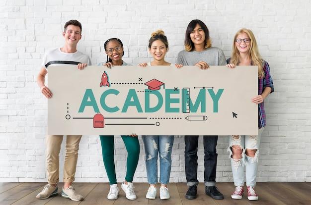 Symbol für wissen des akademie-zertifizierungslehrplans