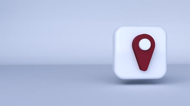 Symbol roter stift mit weißem hintergrund. 3d-rendering