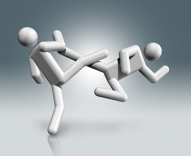 Symbol taekwondos 3d, olympischer sport