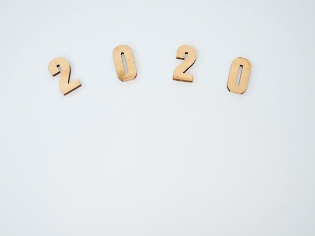 Symbol von nr. 2020. festliches neues jahr