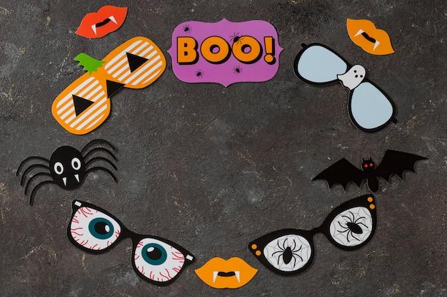 Symbole für den feiertag des halloween