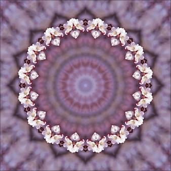 Symmetrische radiale hintergrundzusammenfassungsillustration