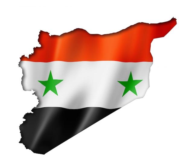 Syrische flagge karte