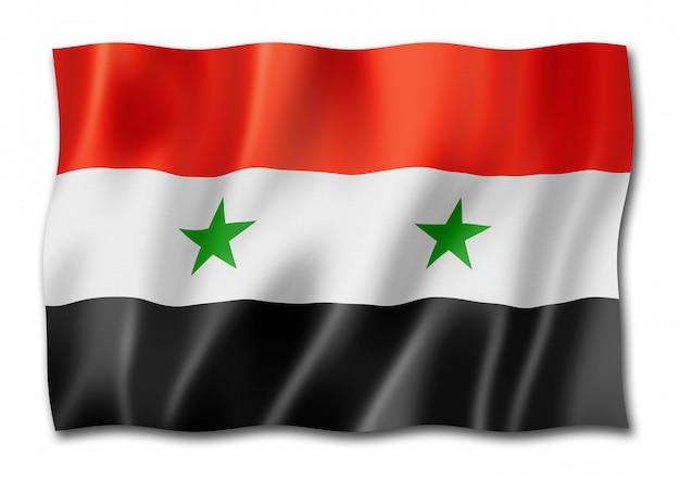 Syrische flagge lokalisiert auf weiß