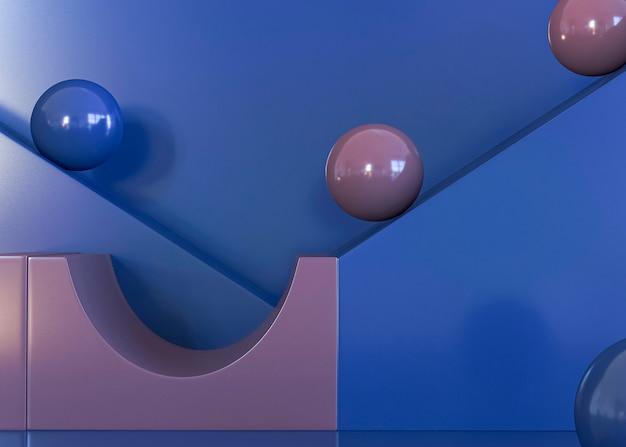 Szene des abstrakten geometrischen hintergrunds 3d